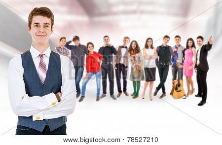 Teenage Friends Big Group