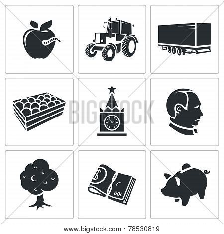 Agriculture Vector Icons Set