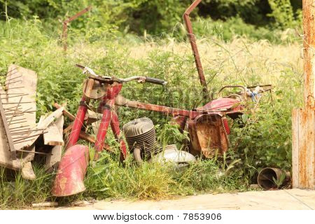 Junk Red Motorcycle
