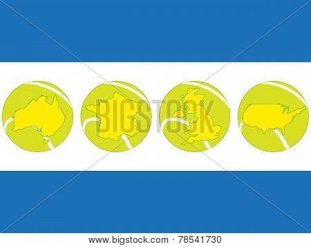 Tennis Map Balls