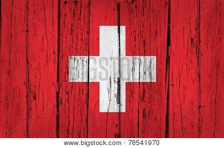 Swiss Flag Grunge Background