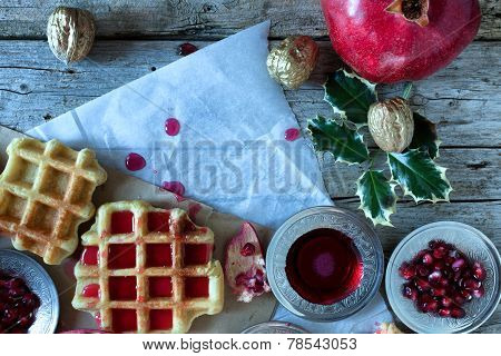 Christmas Breakfast With Waffle