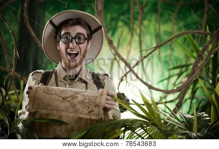 Explorer Finding The Right Path In The Jungle