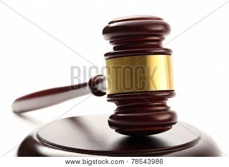 Handcrafted Wooden Gavel And Block