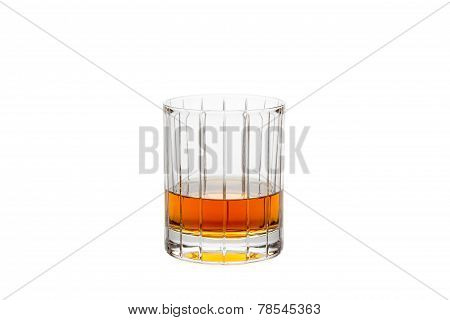 Isolated Whisky In A Straight-cut Glass
