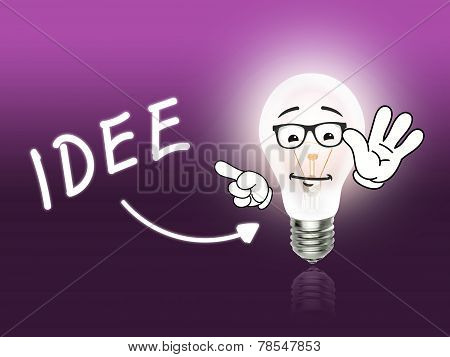 Idee Bulb Lamp Energy Light Pink