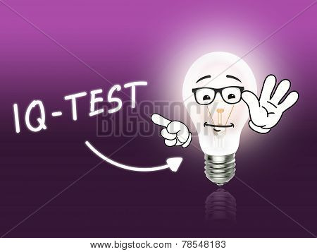 Iq Test Bulb Lamp Energy Light Pink