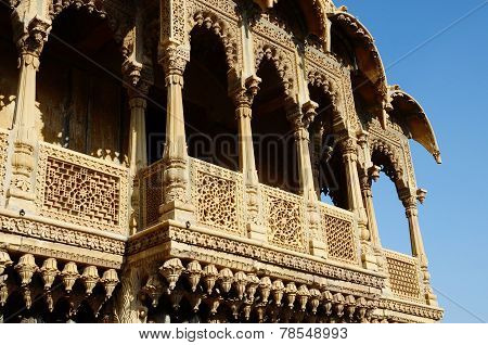 Traditional architecture of golden city Jaisalmer,India, unesco heritage