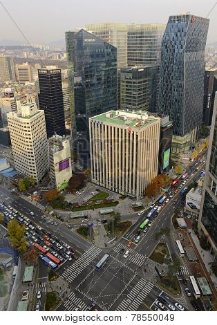 Cityscape in Seoul, Korea