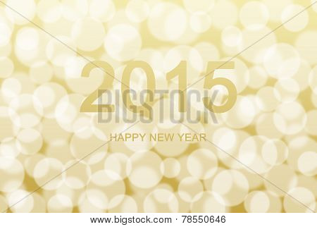 Text New Year 2015 Bokeh Background