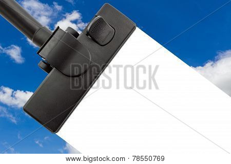 Vacuum Cleaner With Blue Sky.