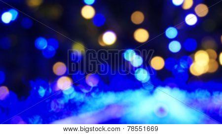 Blur Blue Light Illuminated Abstract Background