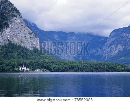 Hallstatt Lake Beautiful Scene