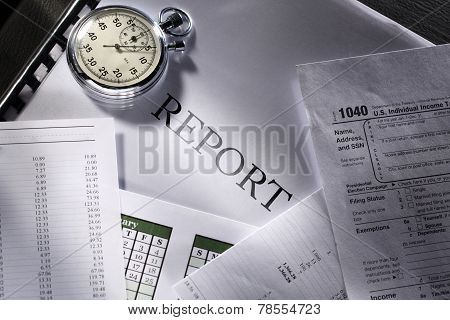 Operating Budget, Calendar, Stopwatch And Report