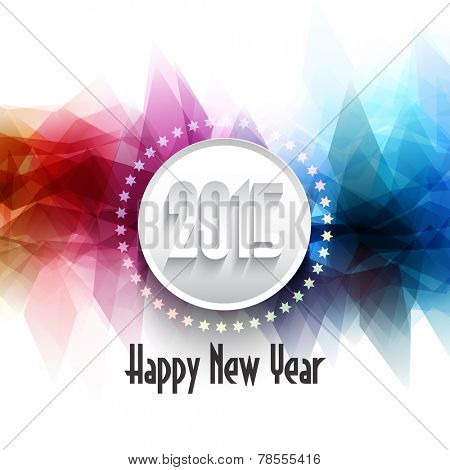 Happy New Year background with typography design