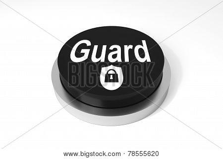 Black Round Button Guard Protection Symbol
