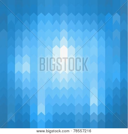 Blue background with abstract arrows pattern