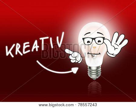 Kreativ Bulb Lamp Energy Light Red