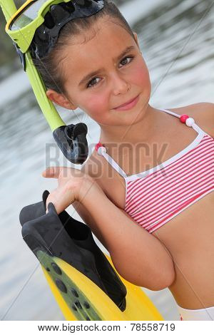 Woman enjoys watersports