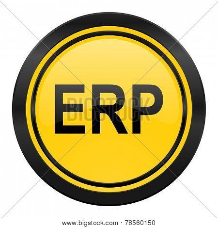 erp icon, yellow logo,