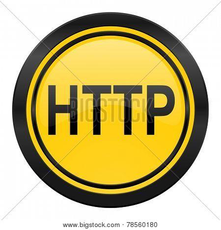 http icon, yellow logo,