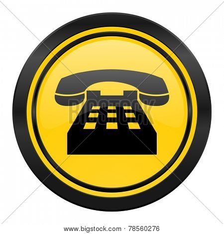 phone icon, yellow logo, telephone sign