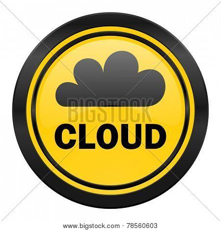 cloud icon, yellow logo,