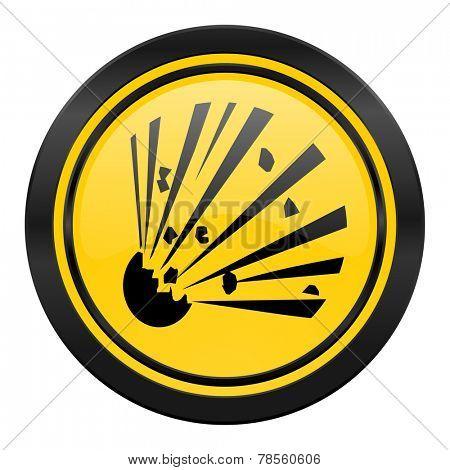 bomb icon, yellow logo,