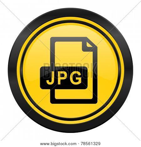 jpg file icon, yellow logo,