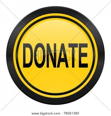 donate icon, yellow logo,