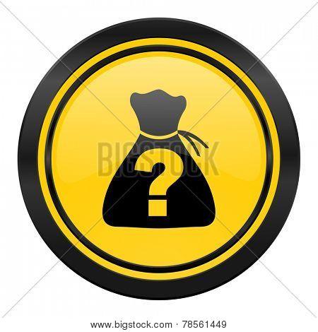 riddle icon, yellow logo,