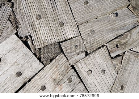 Abstract pattern from wooden boards