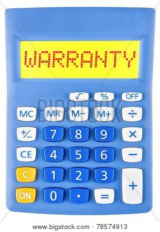 Calculator With Warranty On Display