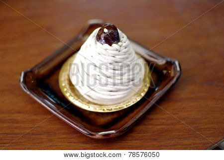 mont blance cake french combination with japanese style