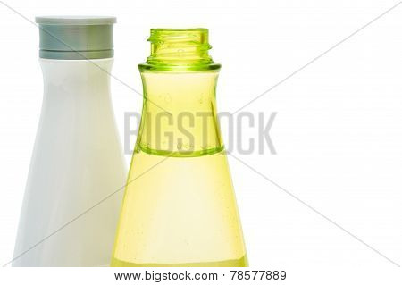 Beauty Bottles Closeup (yellow And White)