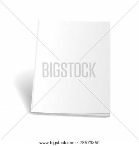 Empty magazine on white background. Perfect blank