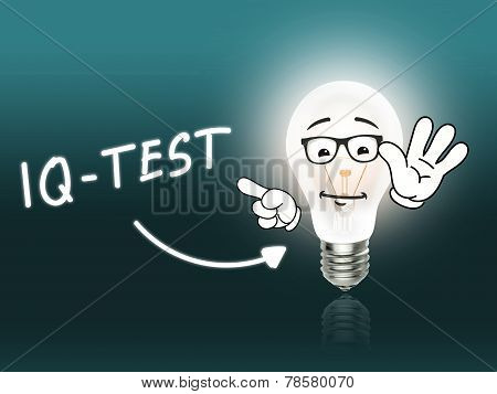 Iq Test Bulb Lamp Energy Light Turquoise