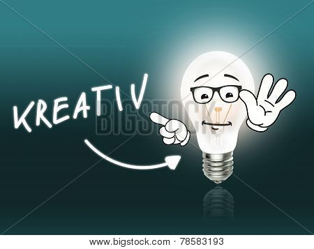 Kreativ Bulb Lamp Energy Light Turquoise