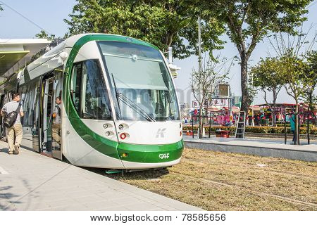 Taiwan's first light rail transit in Kaohsiung