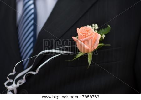 Buttonhole With Rose