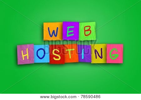 Web Hosting Internet Concept