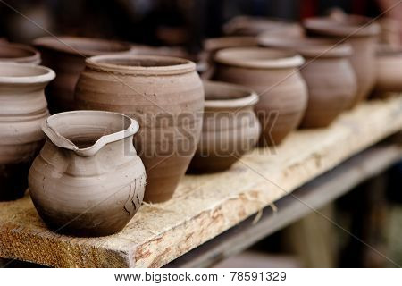 Pottery In Crafts Fair