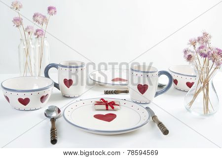 Breakfast Table With Hearts