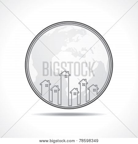 Real Estate icon for sale property concept stock vector