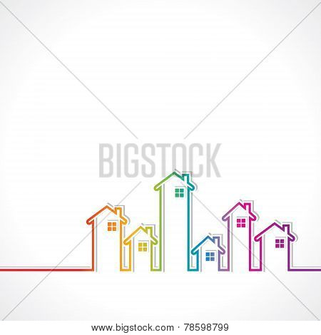 Real Estate background for sale property concept stock vector