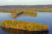pic of bayou  - Fall on the Mississippi River Near Prairie du Chien - JPG