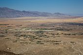 foto of anza  - Anza Borrego desert and state park with the city of Borrego Springs in the valley - JPG