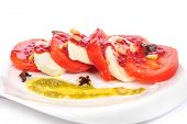 pic of antipasto  - Caprese antipasto salad with mozarella cheese - JPG