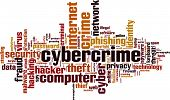 picture of cybercrime  - Cybercrime word cloud concept - JPG