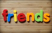 picture of bff  - Friends concept with colorful letters on wood - JPG